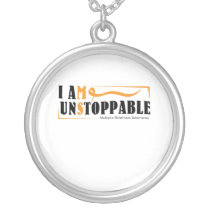 I Am Unstoppable Multiple Sclerosis Awarness Silver Plated Necklace