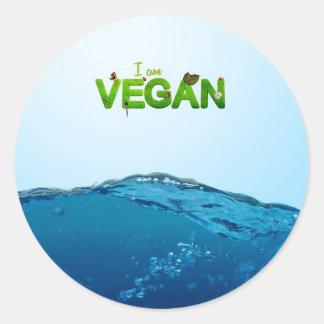 I am Vegan Classic Round Sticker