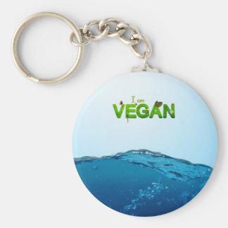 I am Vegan Keychain