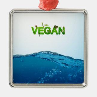 I am Vegan Metal Ornament