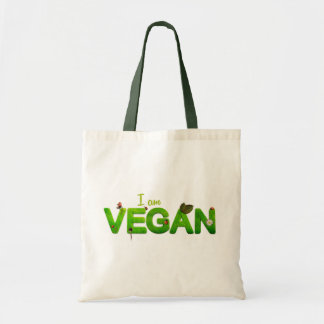 """I am vegan"" tote bag"