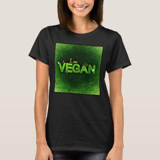 I Am Vegan Written With A Grassy Nature Texture T-Shirt