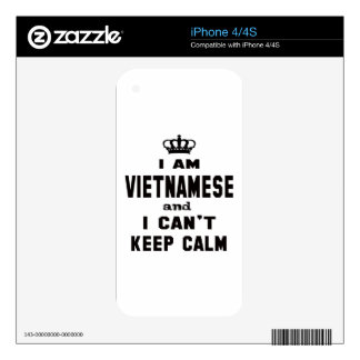 I am Vietnamese and i can't keep calm iPhone 4 Decals