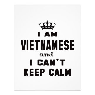 I am Vietnamese and i can't keep calm Letterhead