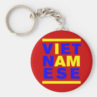 I AM VIETNAMESE BASIC ROUND BUTTON KEYCHAIN