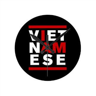 I AM VIETNAMESE ROUND WALLCLOCK