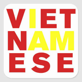 I AM VIETNAMESE SQUARE STICKER