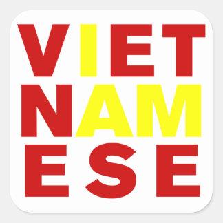 I AM VIETNAMESE SQUARE STICKERS