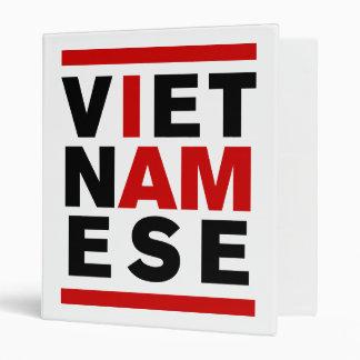 I AM VIETNAMESE VINYL BINDER