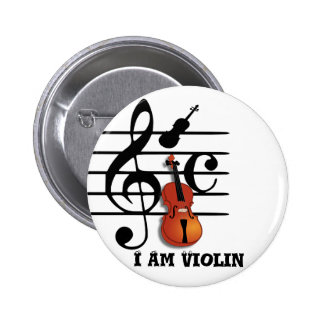 I Am Violin_ 2 Inch Round Button