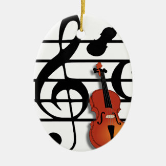I Am Violin_ Ceramic Ornament