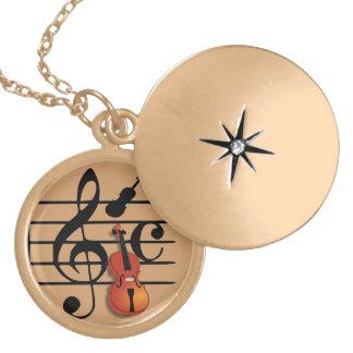 I Am Violin_ Locket Necklace
