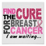 I Am Waiting Breast Cancer Posters