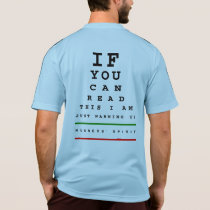 I Am Warming Up Eye Chart - Adidas SS Running T-Shirt
