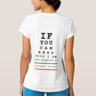 I Am Warming Up Eye Chart - Champion SS Running T-Shirt
