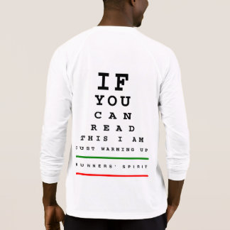 I Am Warming Up Eye Chart - Sport-Tek LS Running T-Shirt