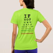 I Am Warming Up Eye Chart - Sport-Tek SS Running T-Shirt