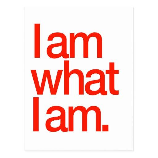 I Am What I Am Postcard