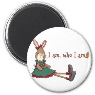 I Am Who I Am 2 Inch Round Magnet