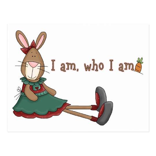 I Am Who I Am Postcard