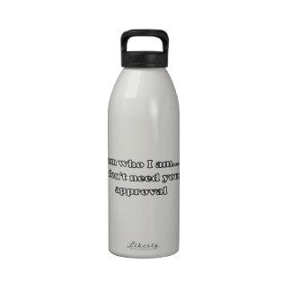 I Am Who I Am Water Bottle
