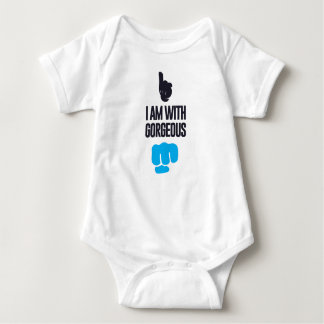 I am with gorgeous - fist bump baby bodysuit