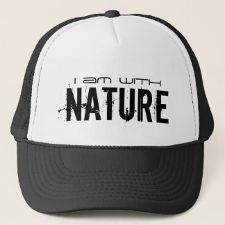 I AM WITH NATURE TRUCKER HAT