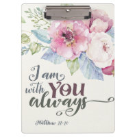 I Am With You acrylic clipboard