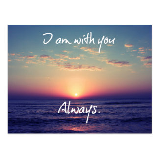 I am with you Always Bible Verse Post Cards