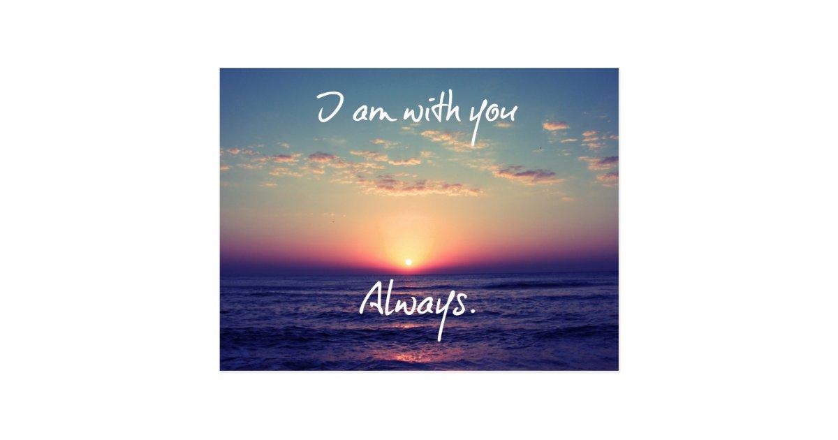 I Am With You Always Bible Verse Postcard Zazzle Com