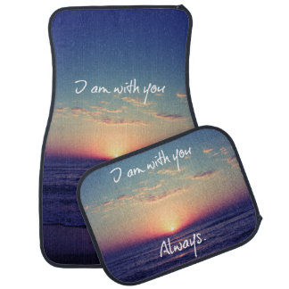 I am with you Always Bible Verse Car Mat
