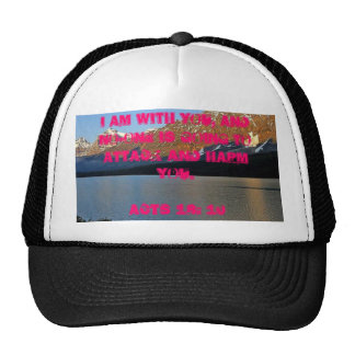 """""""I am with you"""" Bible Scripture  Hat"""