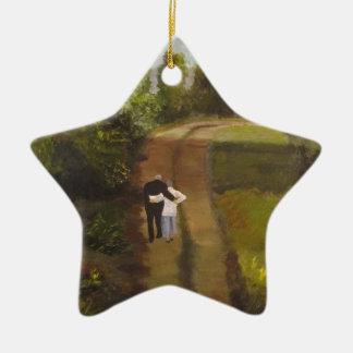 I  am with you ceramic ornament