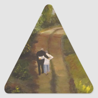 I  am with you triangle sticker