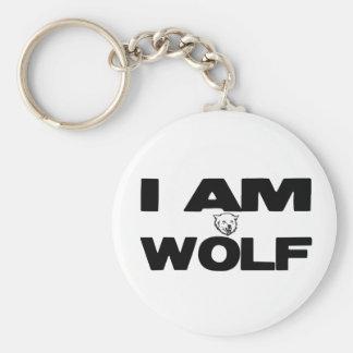 I Am Wolf Keychain