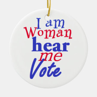 I AM WOMAN CERAMIC ORNAMENT