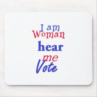 I AM WOMAN MOUSE PAD