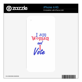 I AM WOMAN SKINS FOR iPhone 4S