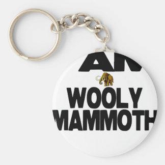 I Am Wooly Mammoth Keychain