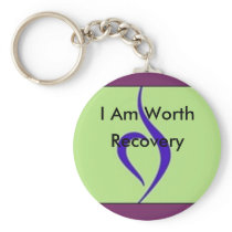 I Am Worth Recovery Keychain