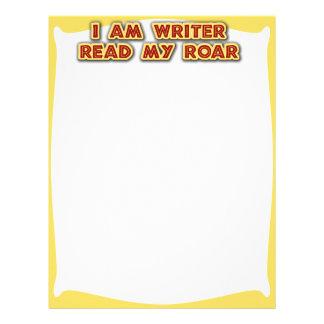 I am writer! letterhead