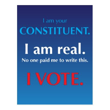 Resist_and_Rebel I am your constituent. I am real. I vote. Postcard