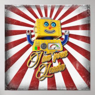 I am your Leader Vintage Toy Robot Poster