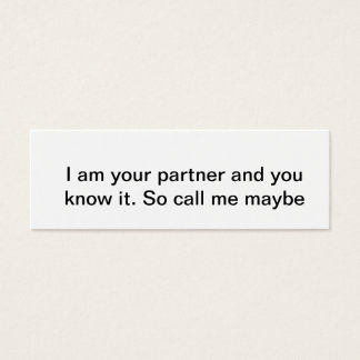 I am your partner mini business card