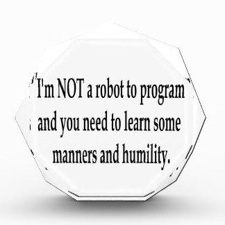 I Am Your Robot #3 Acrylic Award