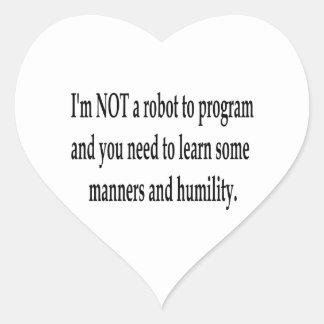 I Am Your Robot #3 Heart Sticker