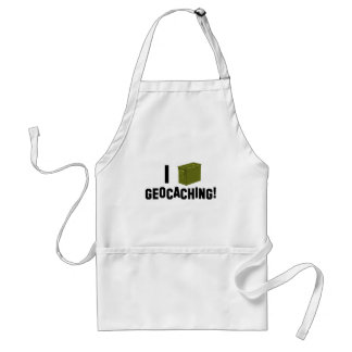 I (Ammo Can) Geocaching! Adult Apron