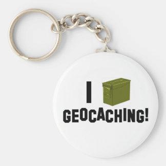 I (Ammo Can) Geocaching! Keychain