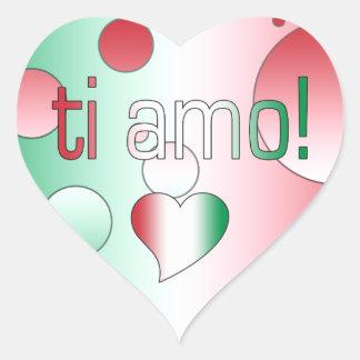 i Amo! Italy Flag Colors Pop Art Heart Sticker