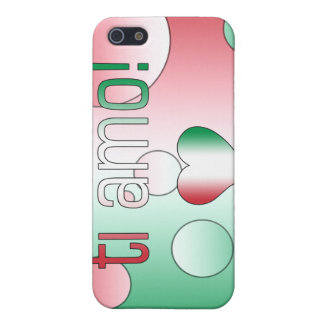 i Amo! Italy Flag Colors Pop Art Cover For iPhone 5